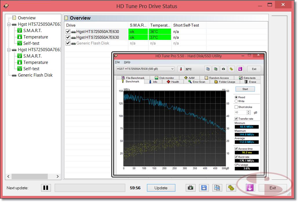 Performa HDD X75. Sayang, defaultnya tidak di RAID.