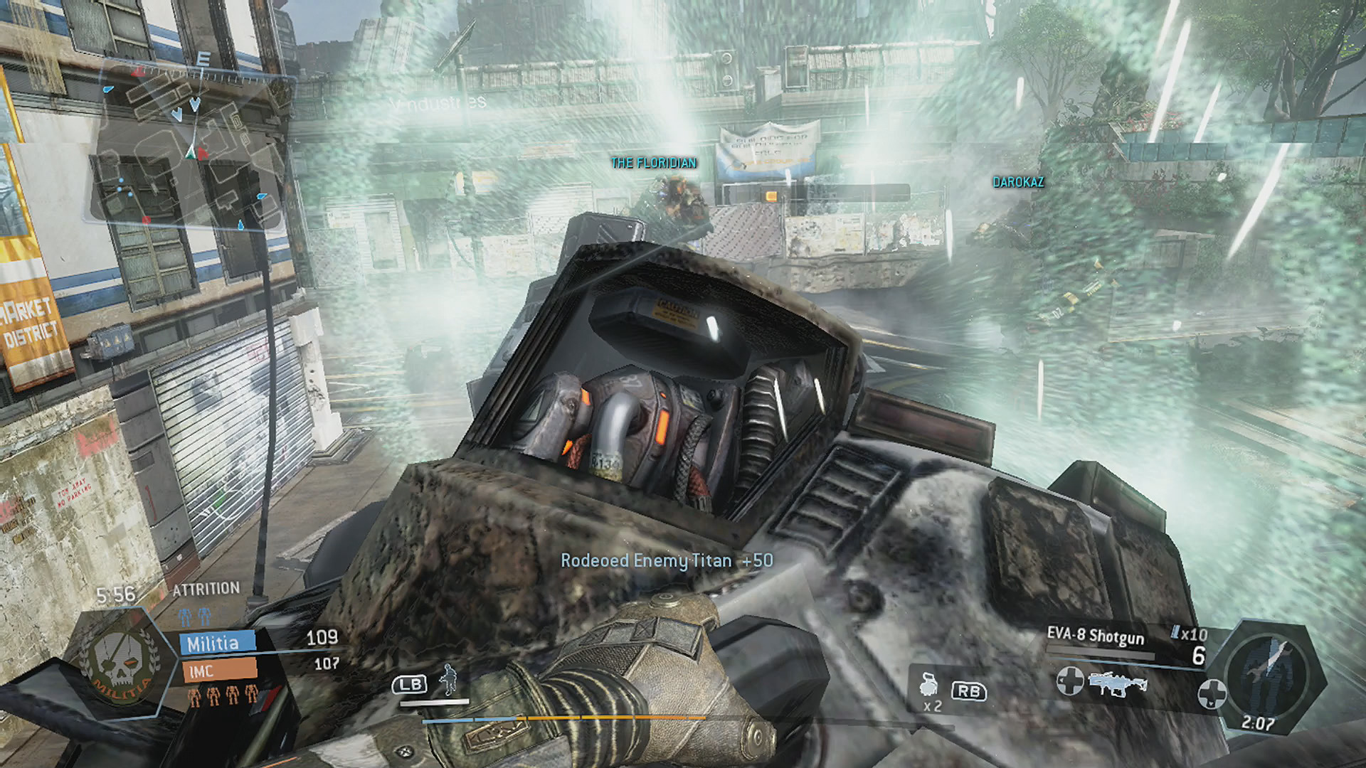 Rodeoed Enemy Titan