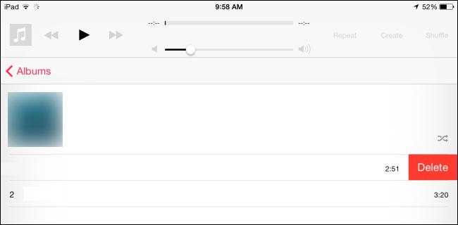 delete music